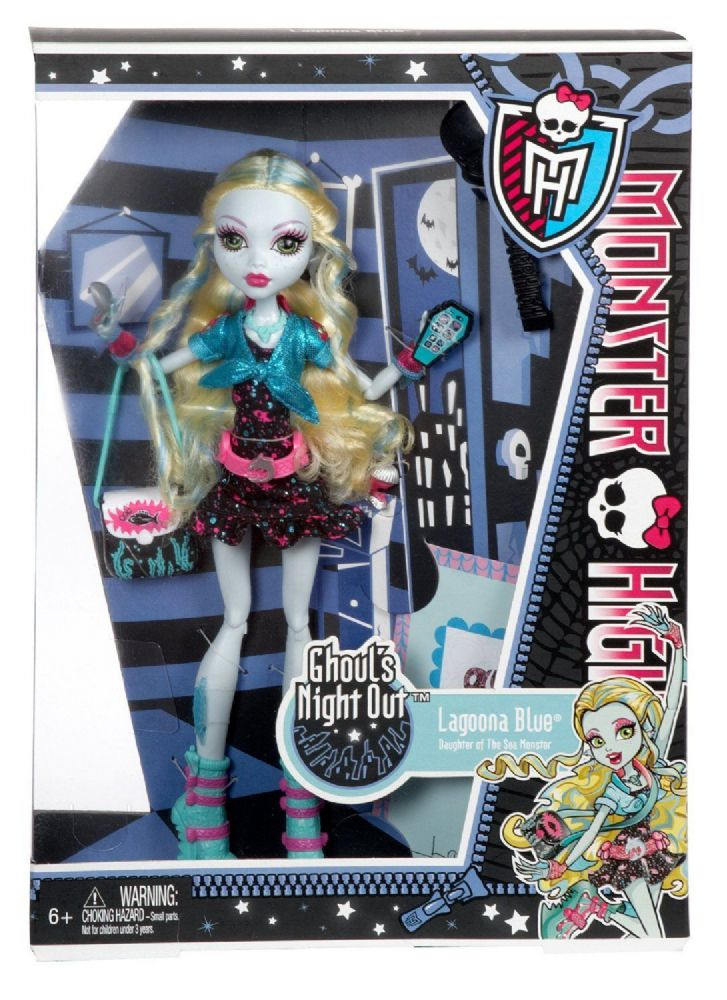 monster high doll ghouls night out lagoona blue